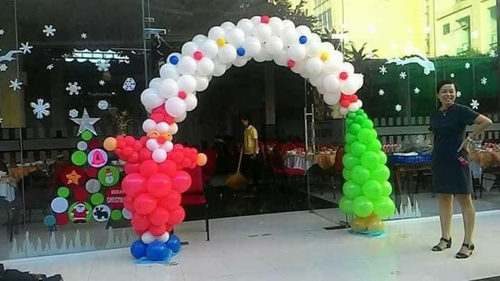 cổng bong bóng noel 2