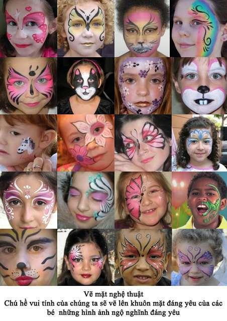 Dịch vụ vẽ mặt cho bé