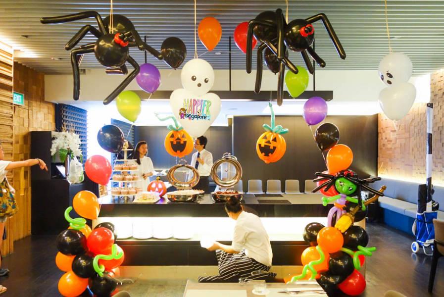Trang Trí Halloween Bằng Bong Bóng